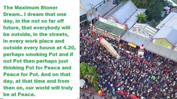 NIMBIN CELEBRATES  GLOBAL 420 DAY on Easter Saturday
