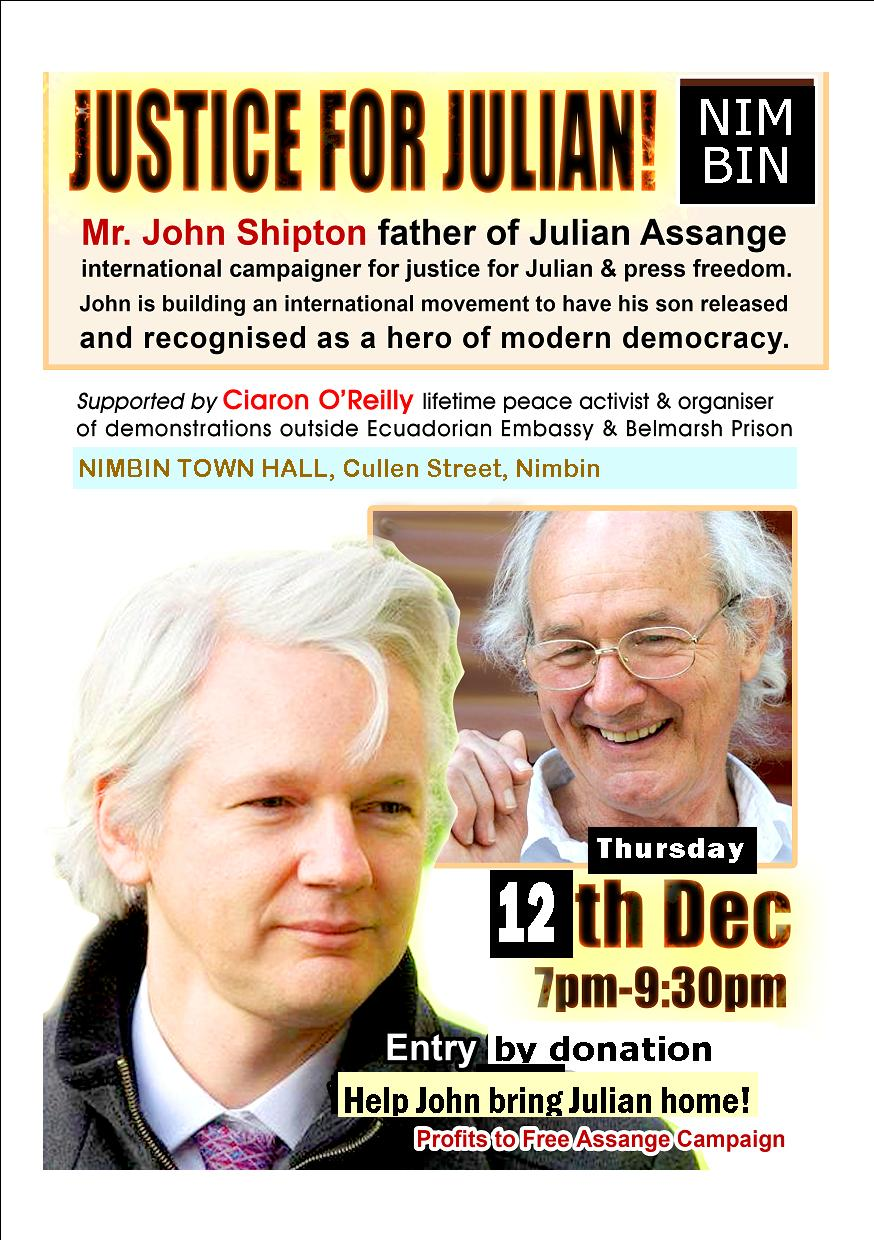 ASSANGE SOLIDARITY MEETINGS IN MULLUM AND NIMBIN: