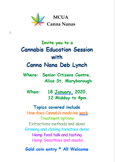 Cannabis Education Session in Maryborough, Queensland
